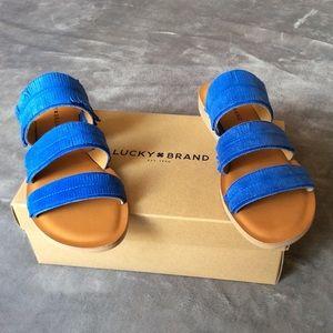 NIB Lucky Brand Hegen Slide Sandals